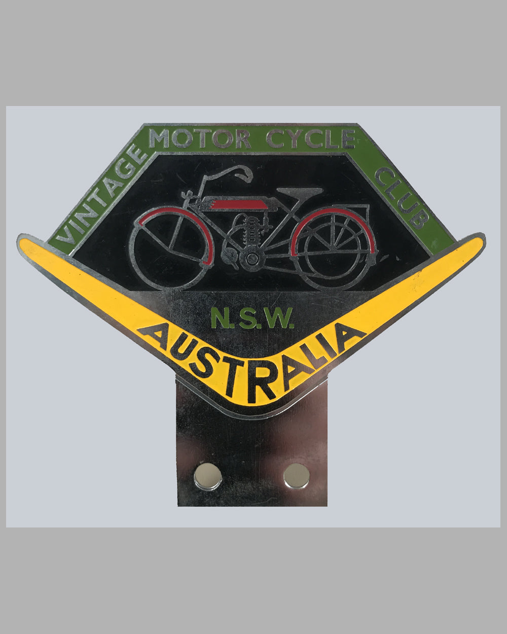 Vintage Motor Cycle Club of Australia badge