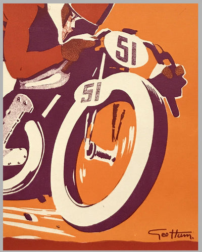 Motorcycle Club de France (MCF) original poster by Geo Ham 2