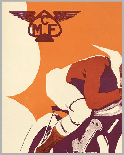 Motorcycle Club de France (MCF) original poster by Geo Ham 3