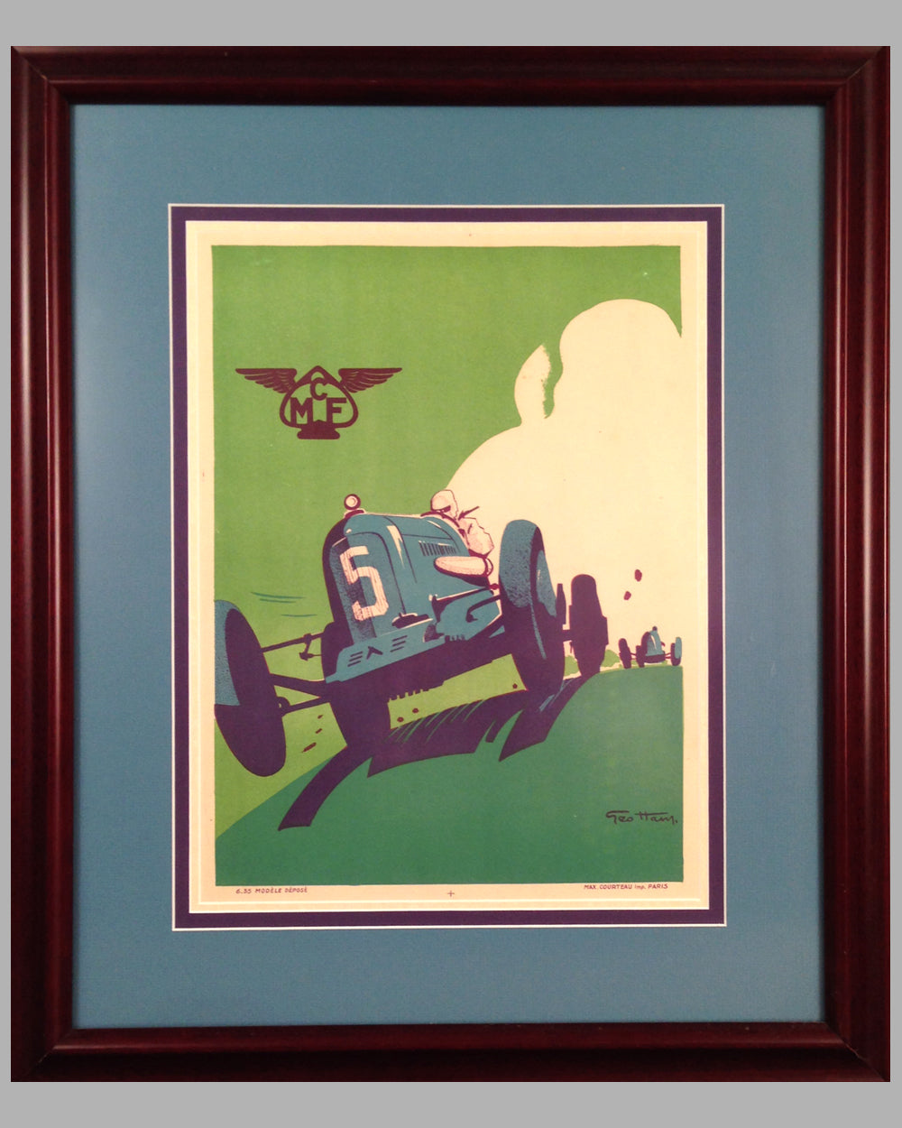 MCF (Motor Club de France) original 1935 poster by Geo Ham