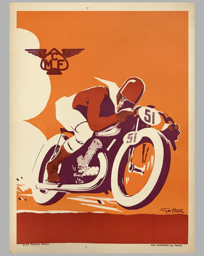 Motorcycle Club de France (MCF) original poster by Geo Ham