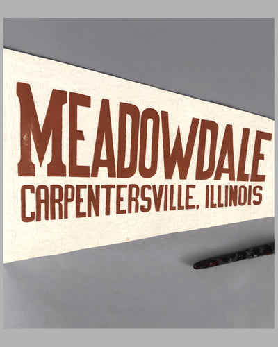 Meadowdale Raceways Carpentersville, Illinois pennant 2