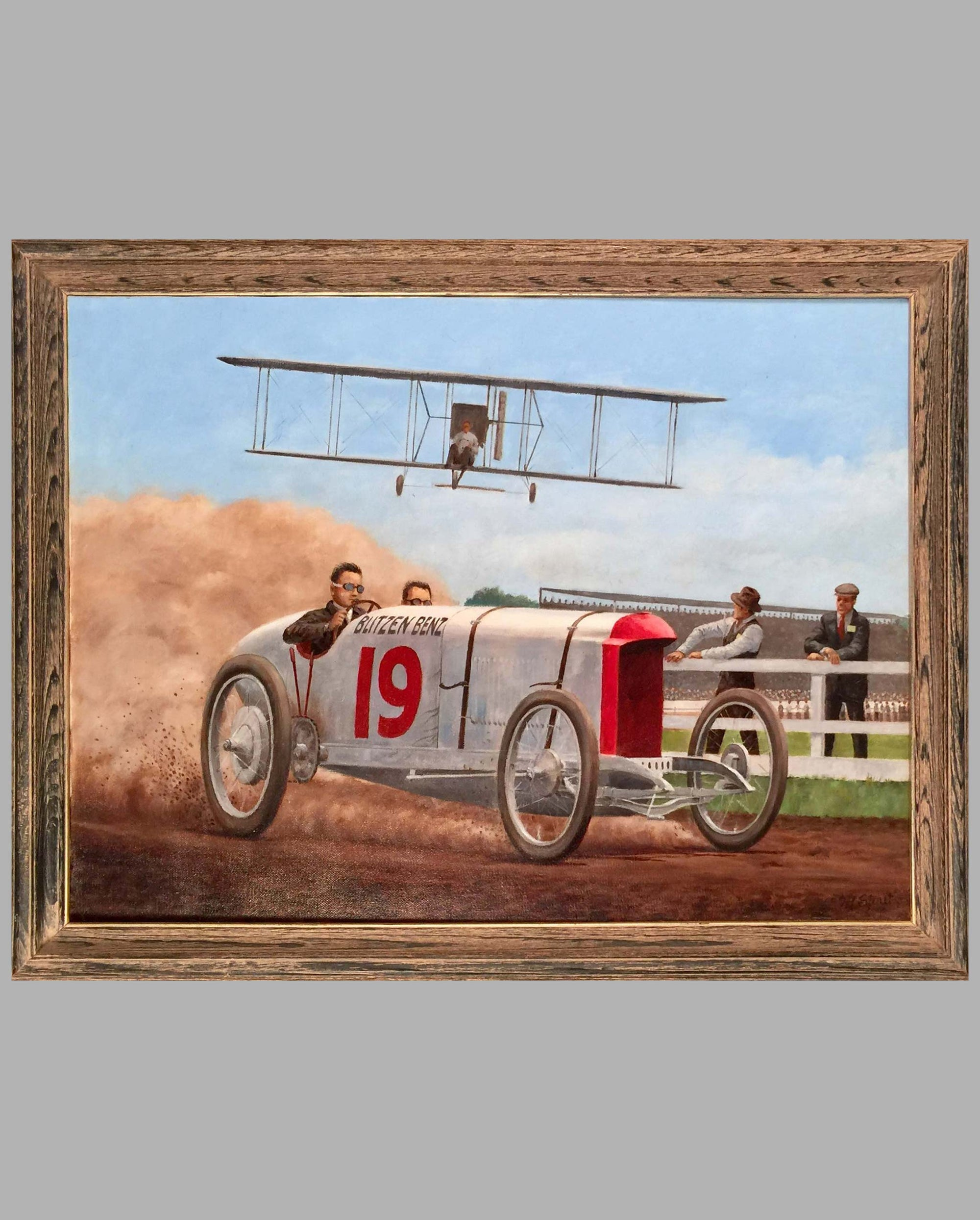 Blitzen Benz - Oil on Canvas Painting by Fred Stout