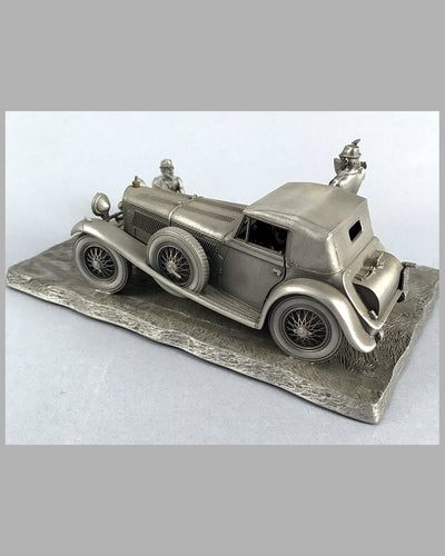 1929 Mercedes-Benz 500 SSK pewter sculpture by Raymond Meyers 3