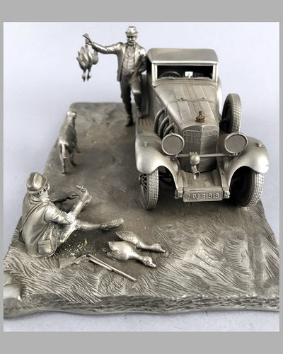1929 Mercedes-Benz 500 SSK pewter sculpture by Raymond Meyers 2