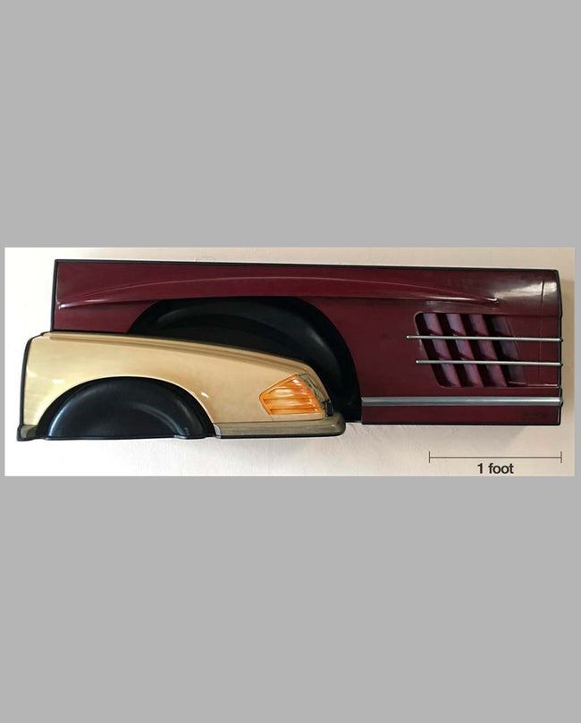 Mercedes wall hanging sculpture 1993 by Dennis Hoyt