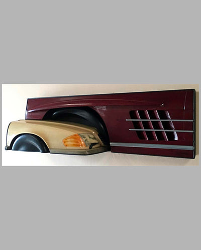 Mercedes wall hanging sculpture 1993 by Dennis Hoyt front