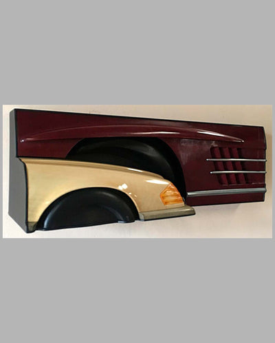 Mercedes wall hanging sculpture 1993 by Dennis Hoyt back