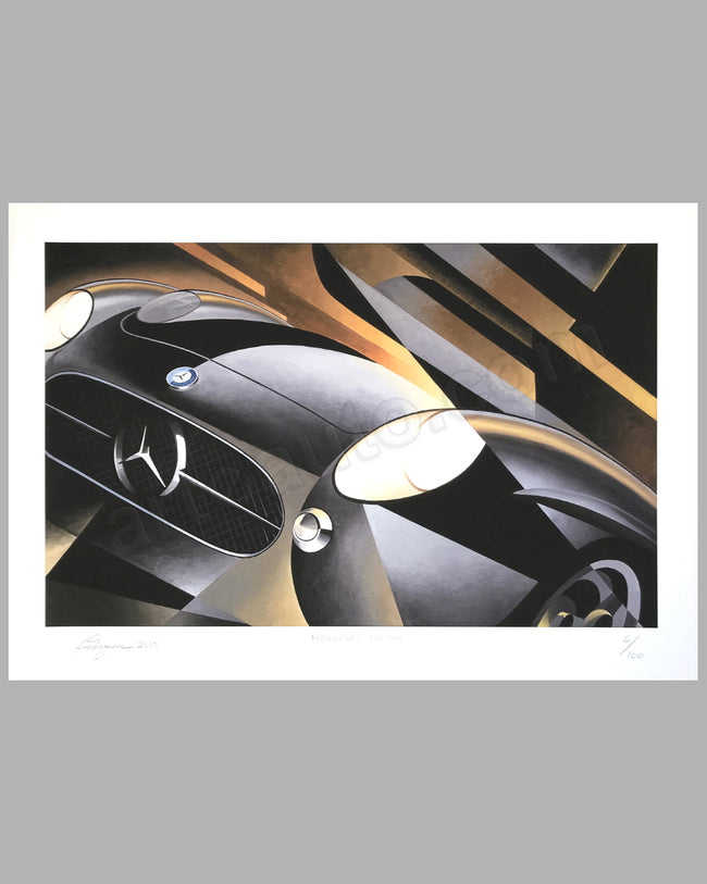 Mercedes Benz 300 SLR giclée by Alain Lévesque