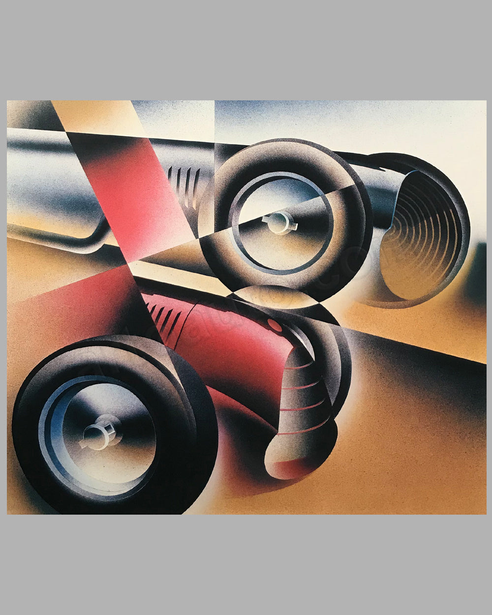 Mercedes vs. Alfa serigraph by Alain Lévesque