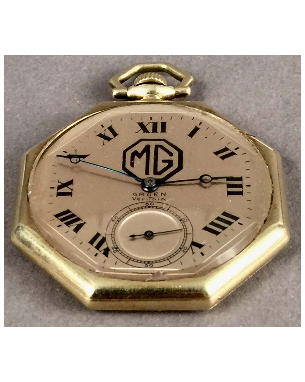"MG pocket watch By Gruen<br><span style=""color: #ff0000;"">$765 -25% = $574</span>"