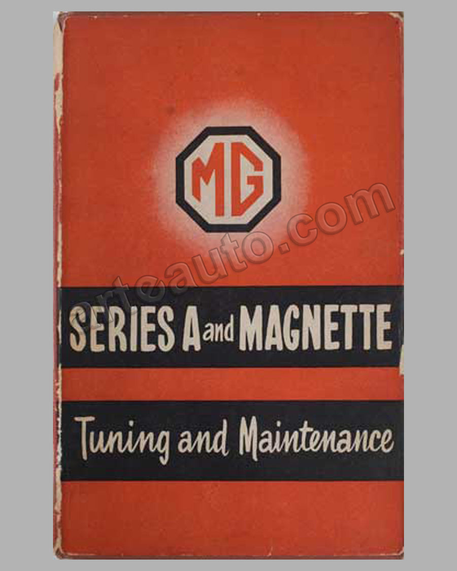 MG Series A & Magnette Tuning & Maintenance book by P. Smith