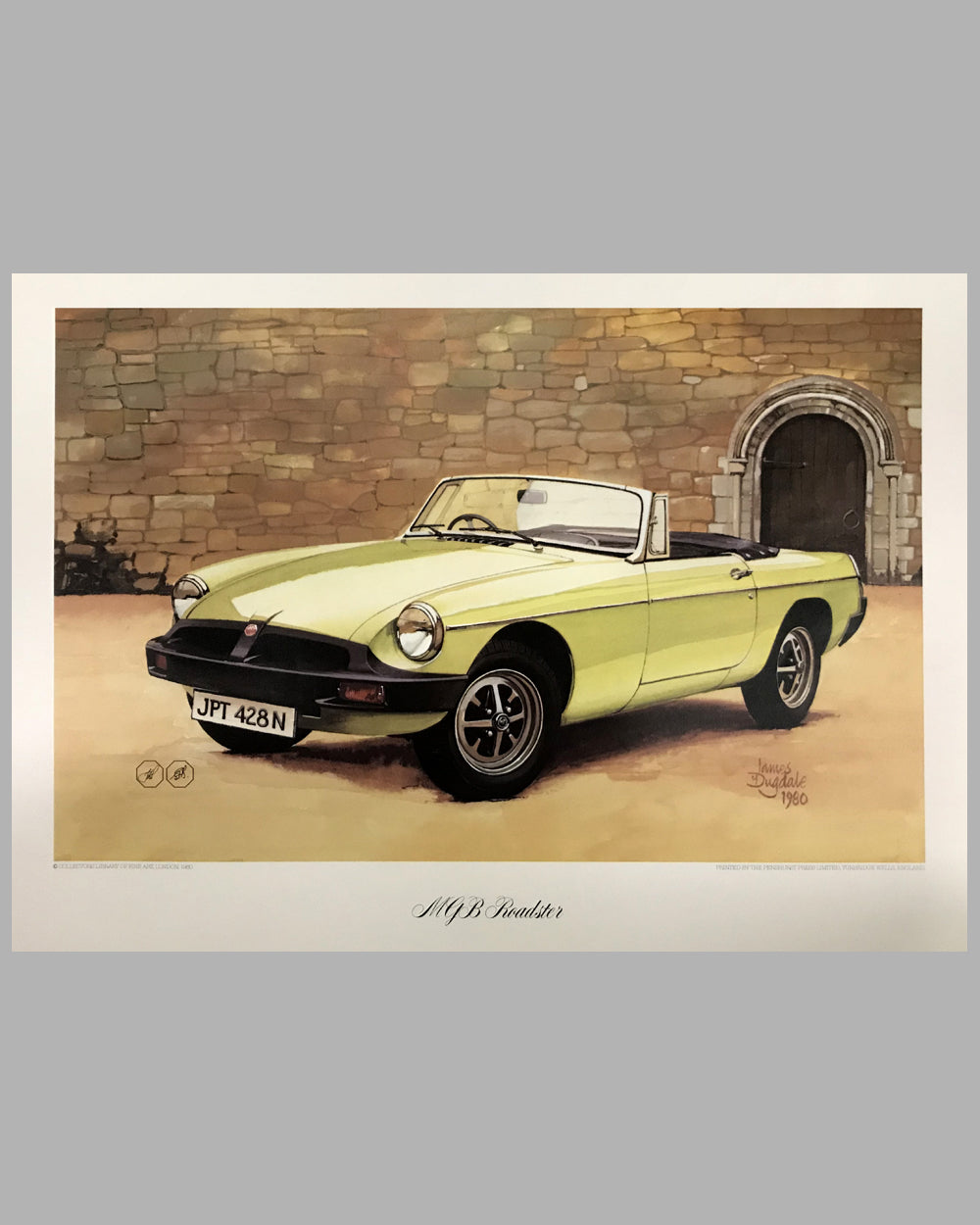 MGB Roadster print by James Dugdale, UK, 1980