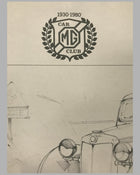 MG Y-Type Saloon print by James Dugdale (UK), 1980 5