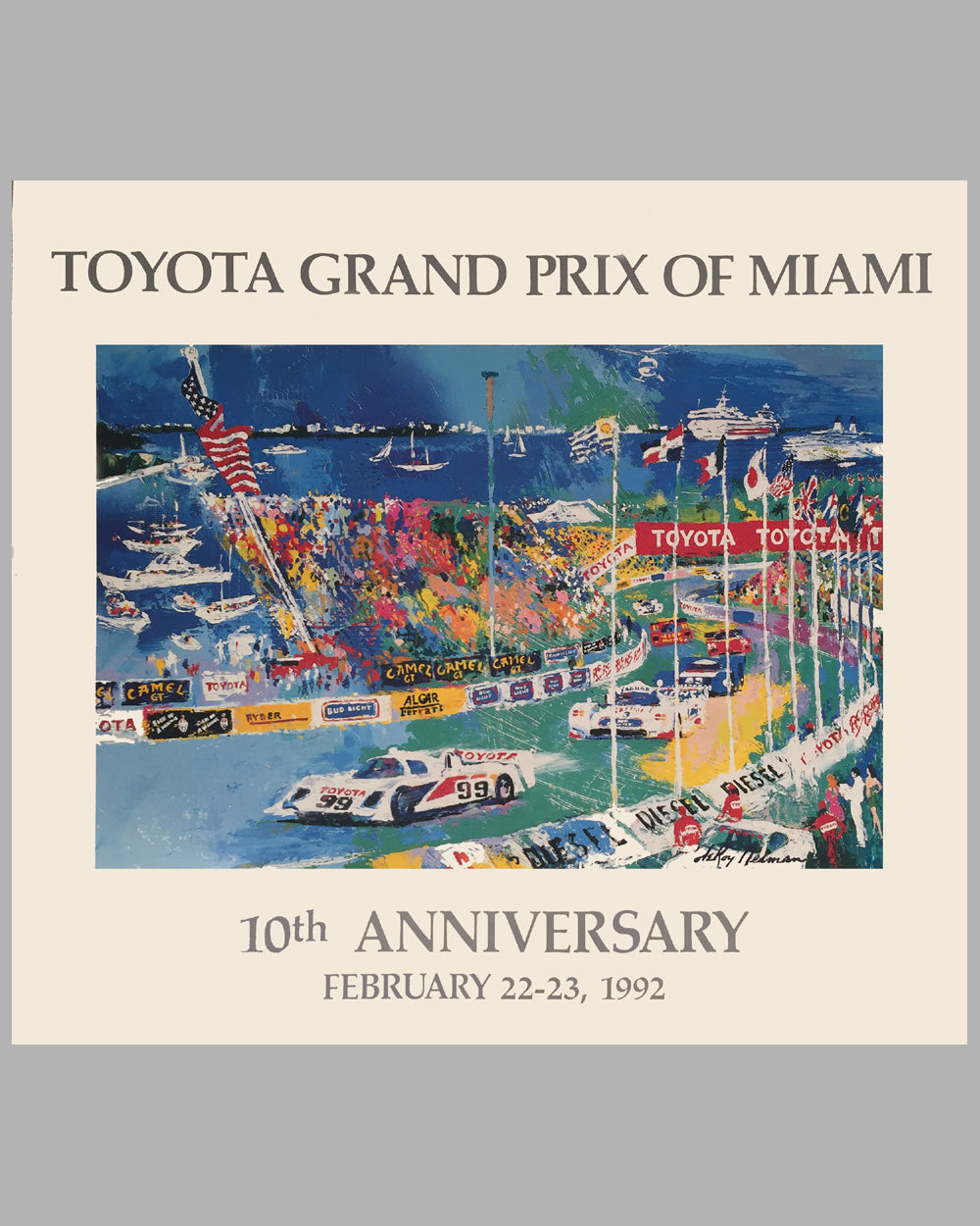Miami Grand Prix 10th Anniversary poster by Le Roy Neiman