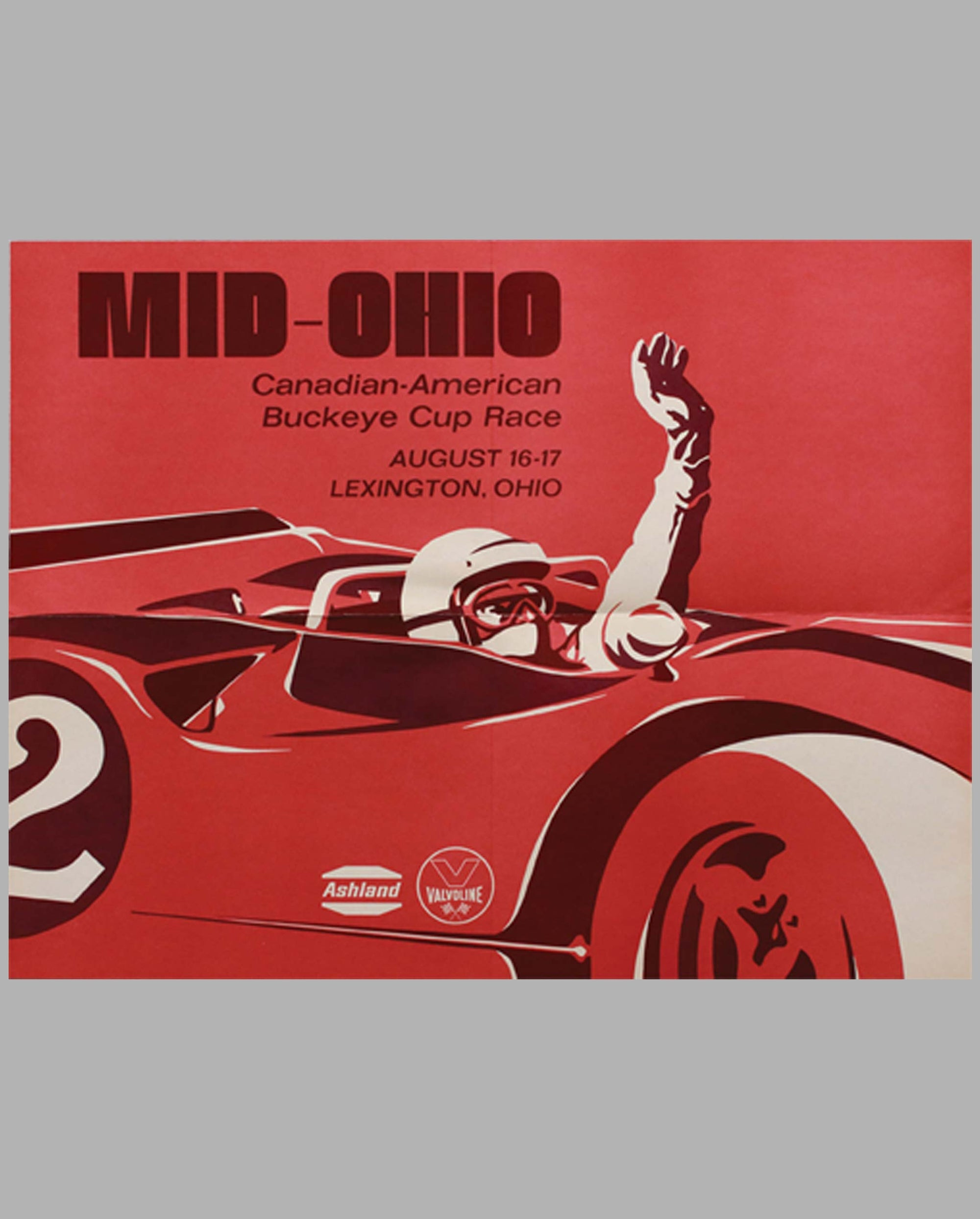 Mid-Ohio Can-Am Buckeye Cup Race 1969 original event poster