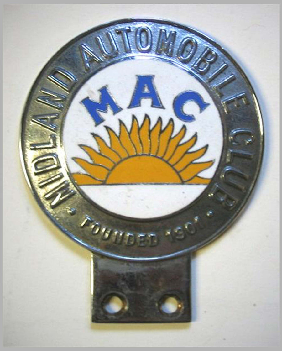 MAC-Midland Automobile Club member's badge