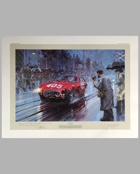 Mille Miglia 1951 Print by Nicholas Watts, autographed
