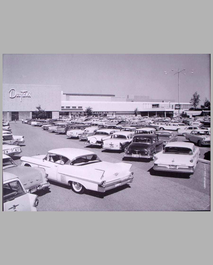 Minneapolis Shopping Center-1961 large period photograph