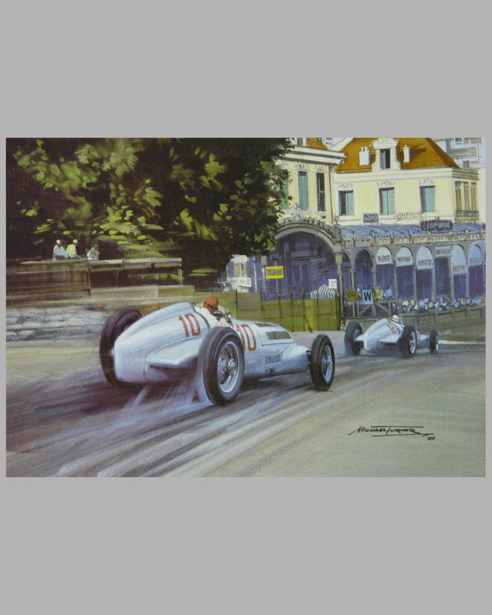 G.P. of Monaco 1937 print by Michael Turner