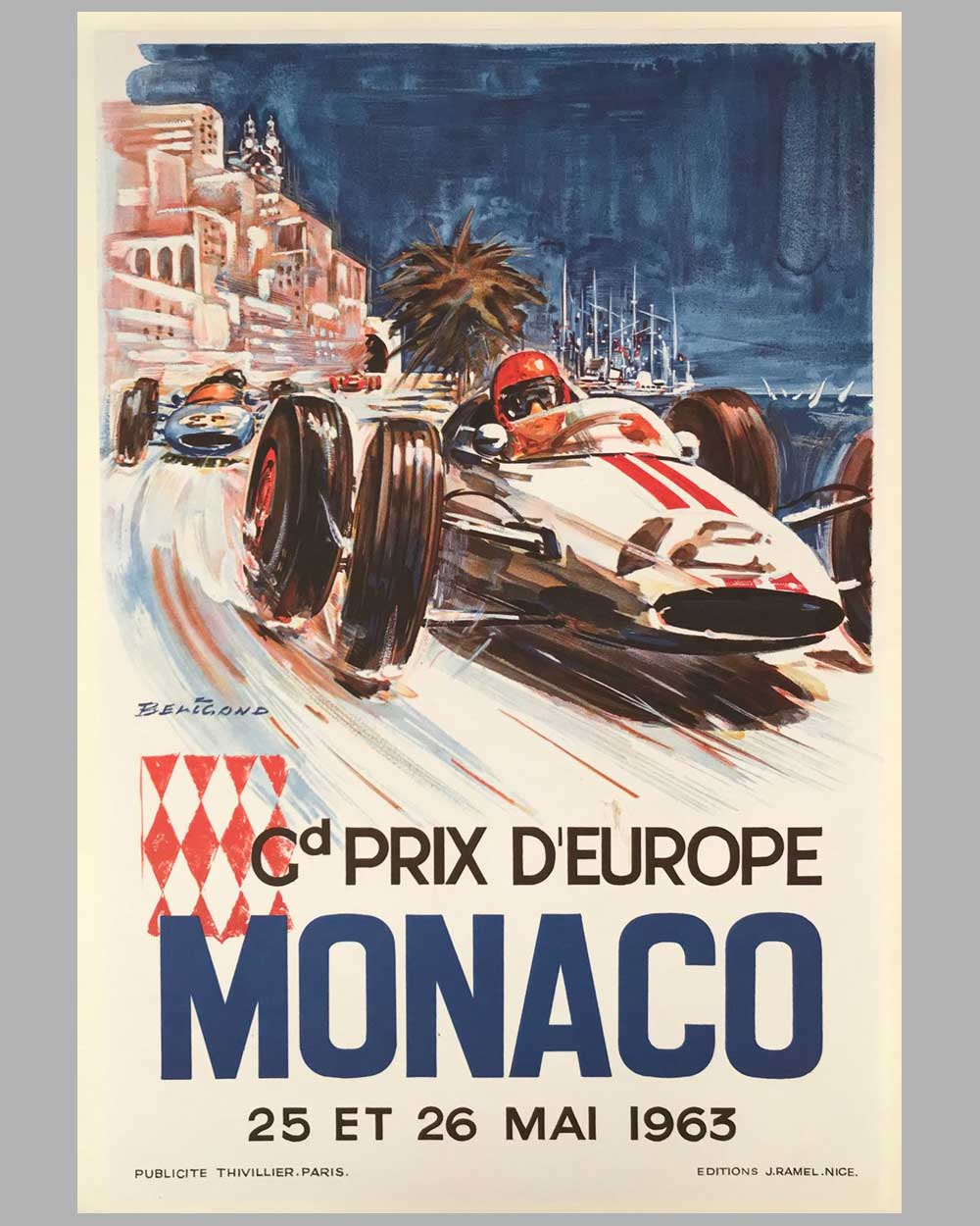 1963 Grand Prix of Monaco poster by Beligond