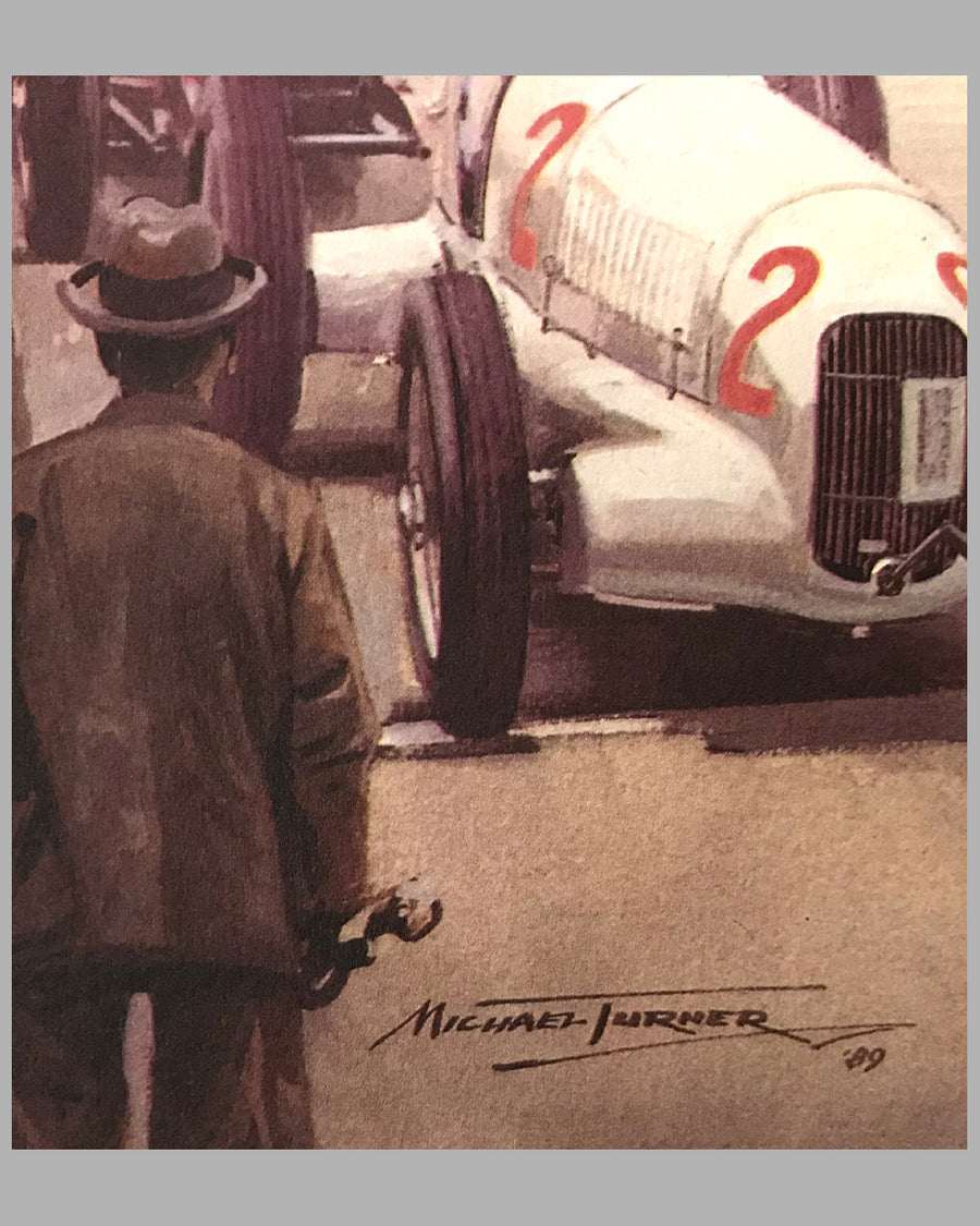 Monaco Starting Line 1935 print by Michael Turner 3
