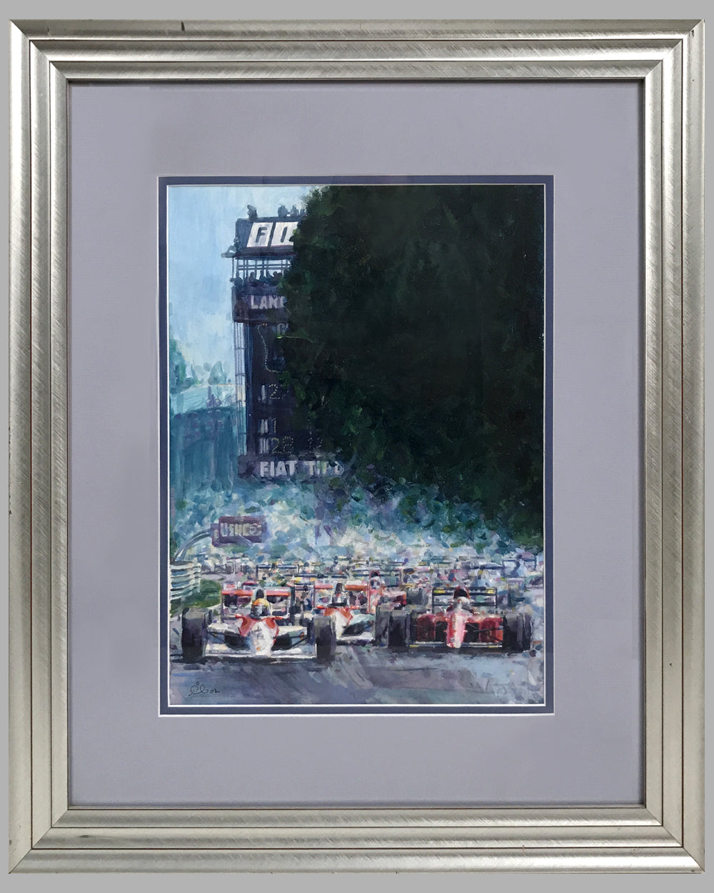 Monza '90 Starts painting by Rob Ijbema