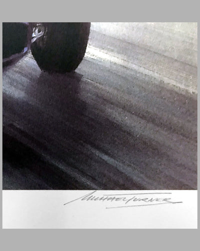 Moss Wins Monaco 1960 print by Michael Turner (UK), 1989, signed by artist & autographed by Innes Ireland 3