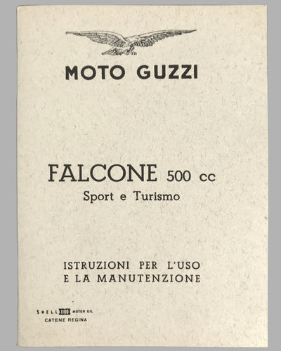 Moto Guzzi Tipo Falcone 500 c.c. instruction manual and parts catalog 4