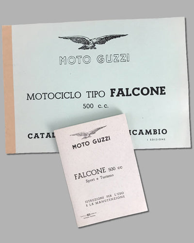 Moto Guzzi Tipo Falcone 500 c.c. instruction manual and parts catalog