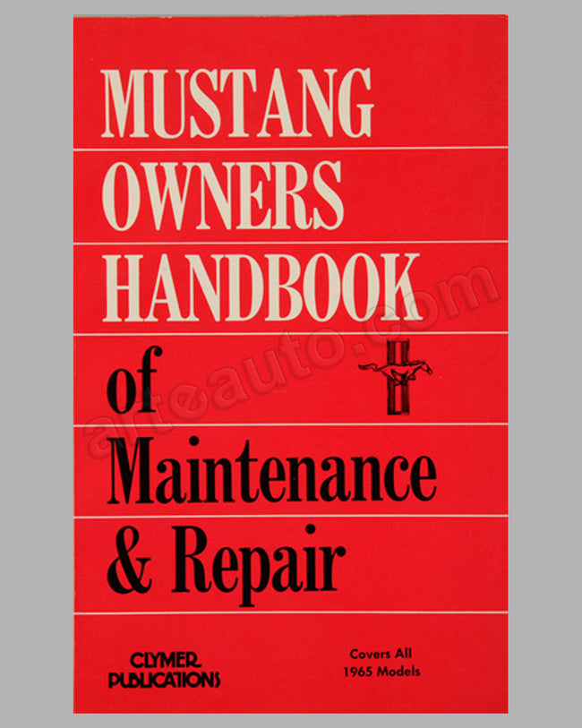 Ford Mustang Owners Handbook of Maintenance & Repair