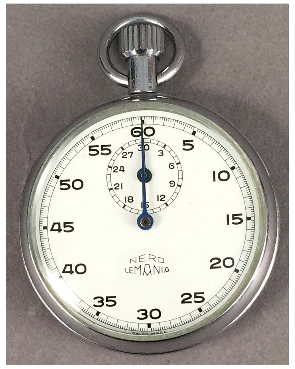 Nero Lemania Vintage Pocket Stop Watch
