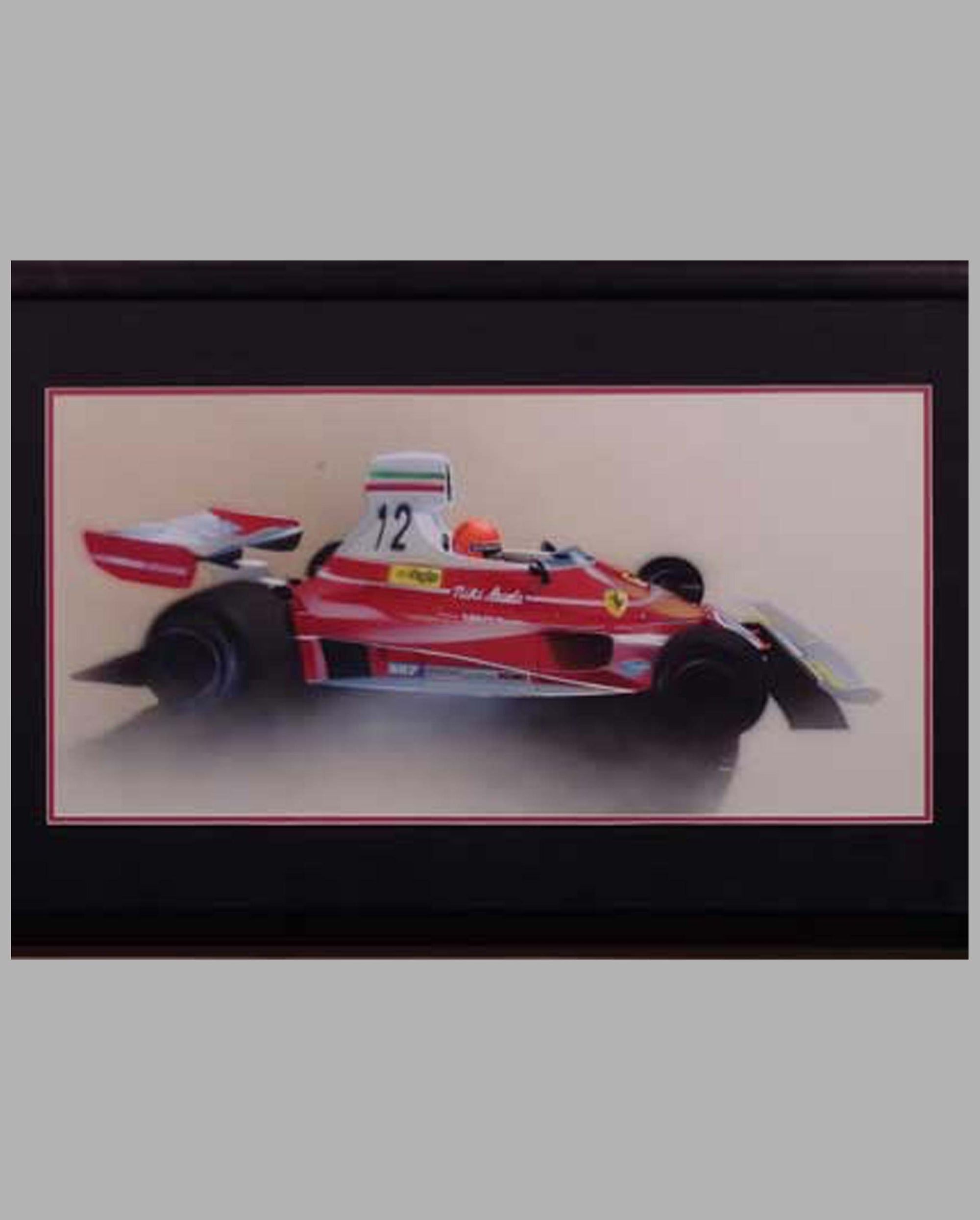 Niki Lauda's Ferrari 312T painting by Thierry Thompson