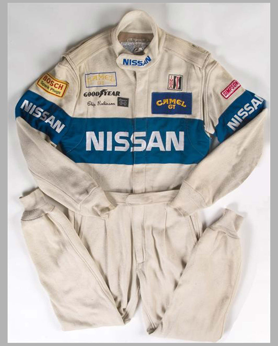 Nissan Racing Suit, Worn by Chip Robinson, 1989