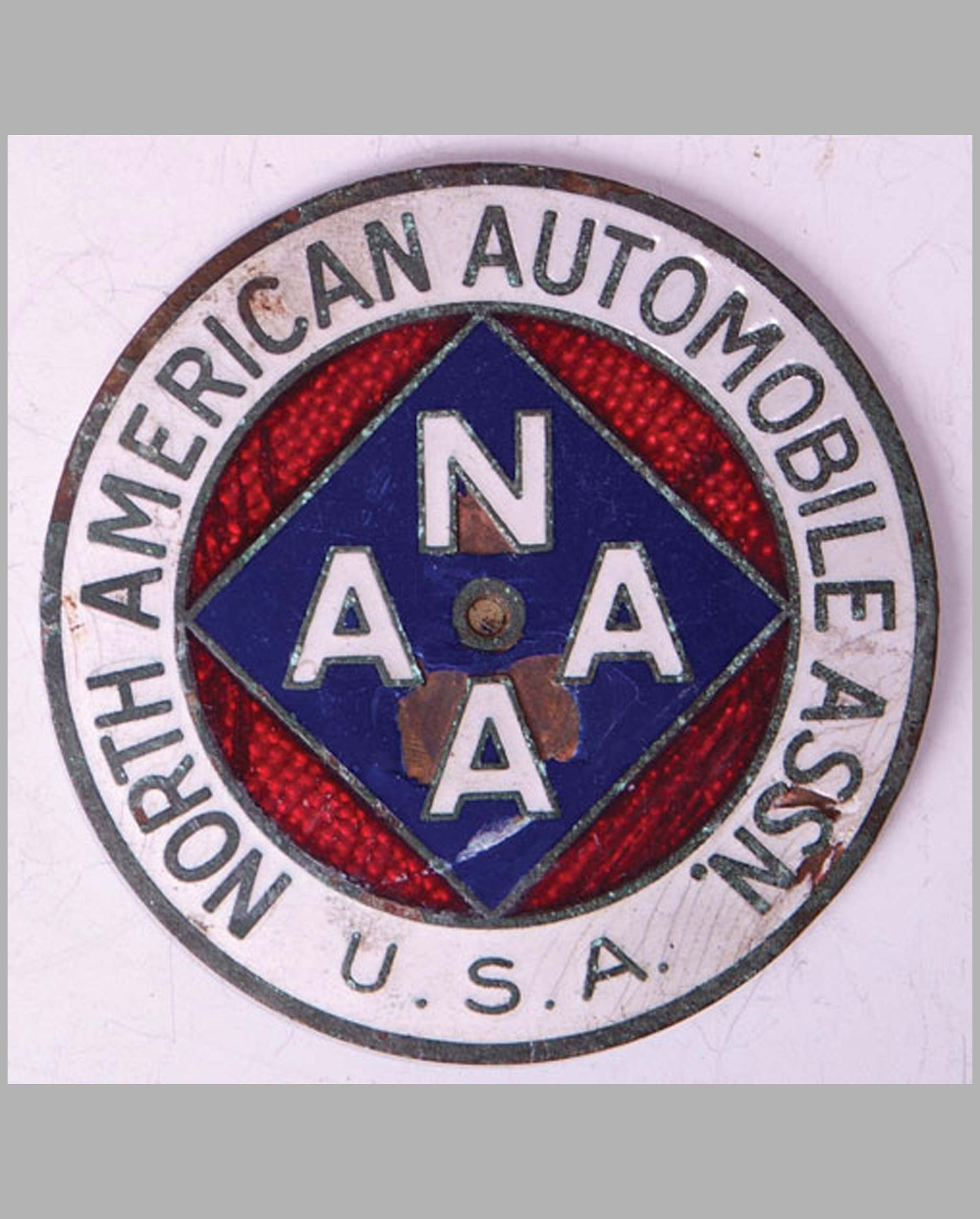 North American Automobile Assn member's badge