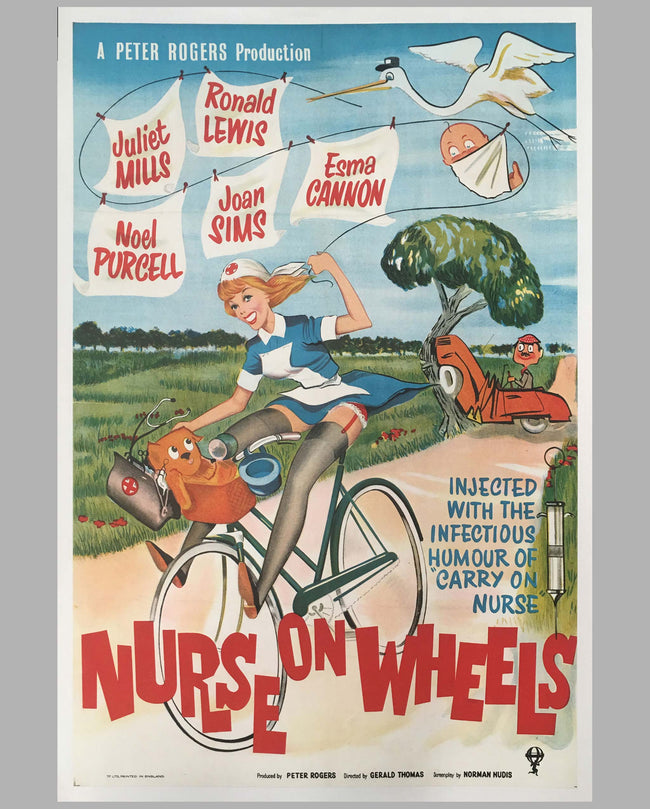 Nurse on Wheels original movie Poster, 1963