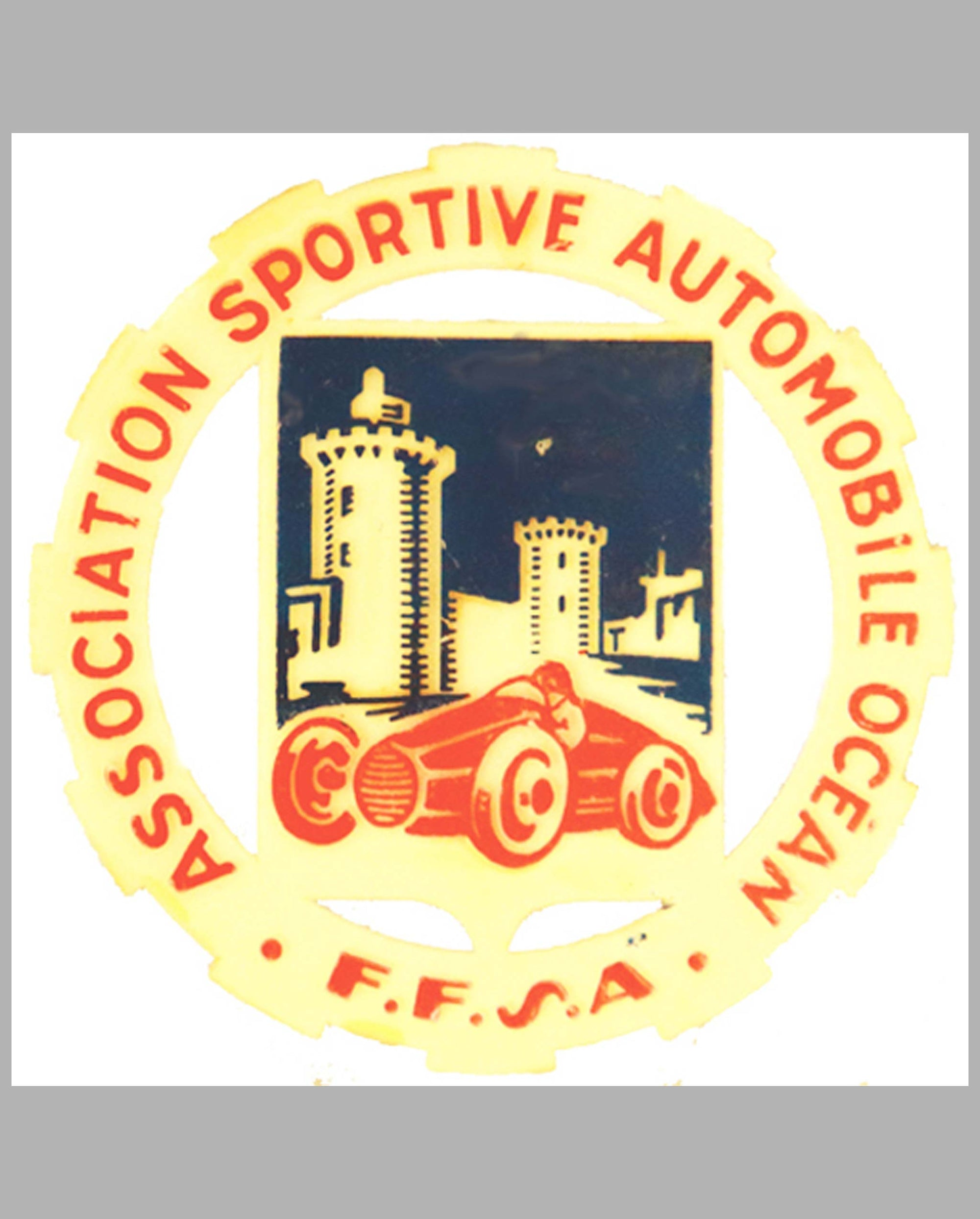 Association Sportive Automobile Ocean FFSA member's badge, France
