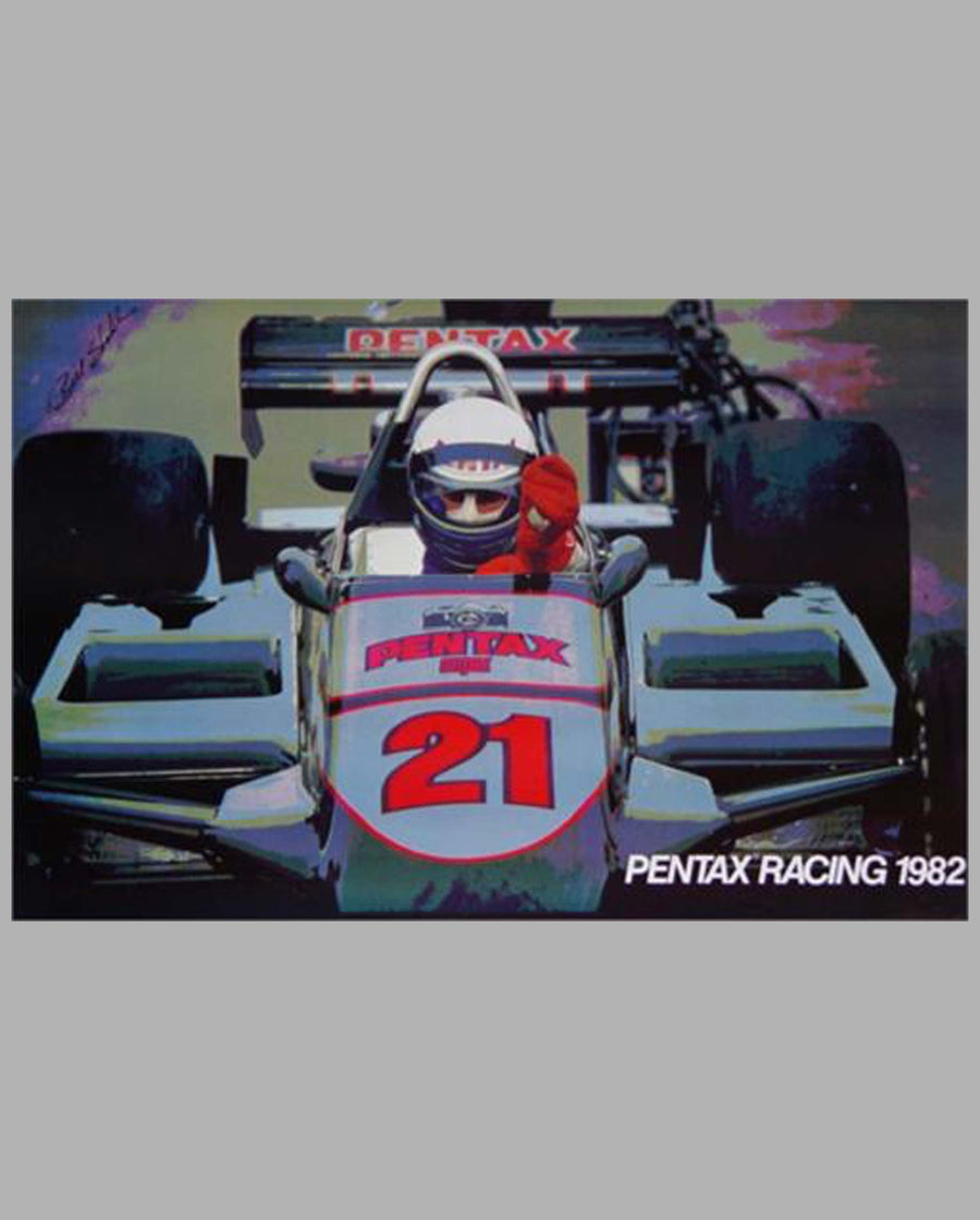 Pentax Racing 1982 poster by Bill Stahl
