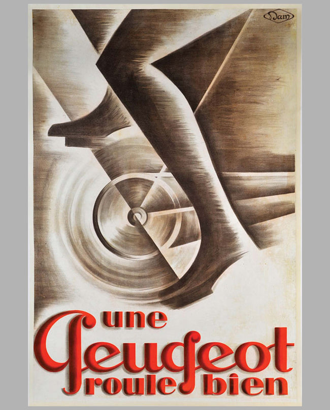 Peugeot Bicycle large original advertising poster by Dam