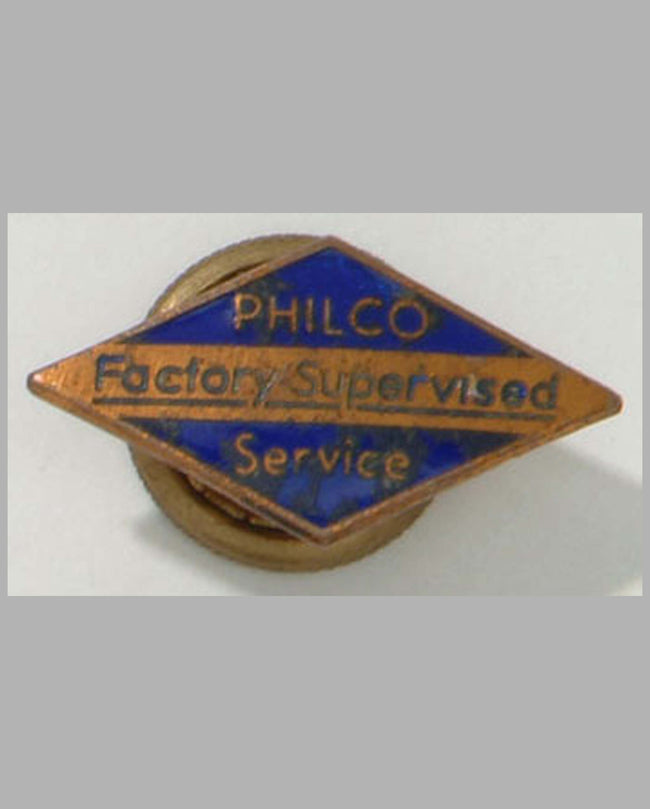 Philco Factory Service pin