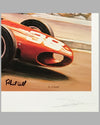 Phil Hill's Ferrari print at the Grand Prix of Monaco by Denis Vipre, Autographed by Phil Hill 2