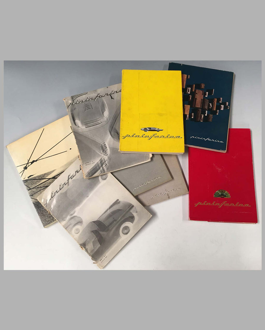 Collection of 7 Pininfarina studio yearbooks cover