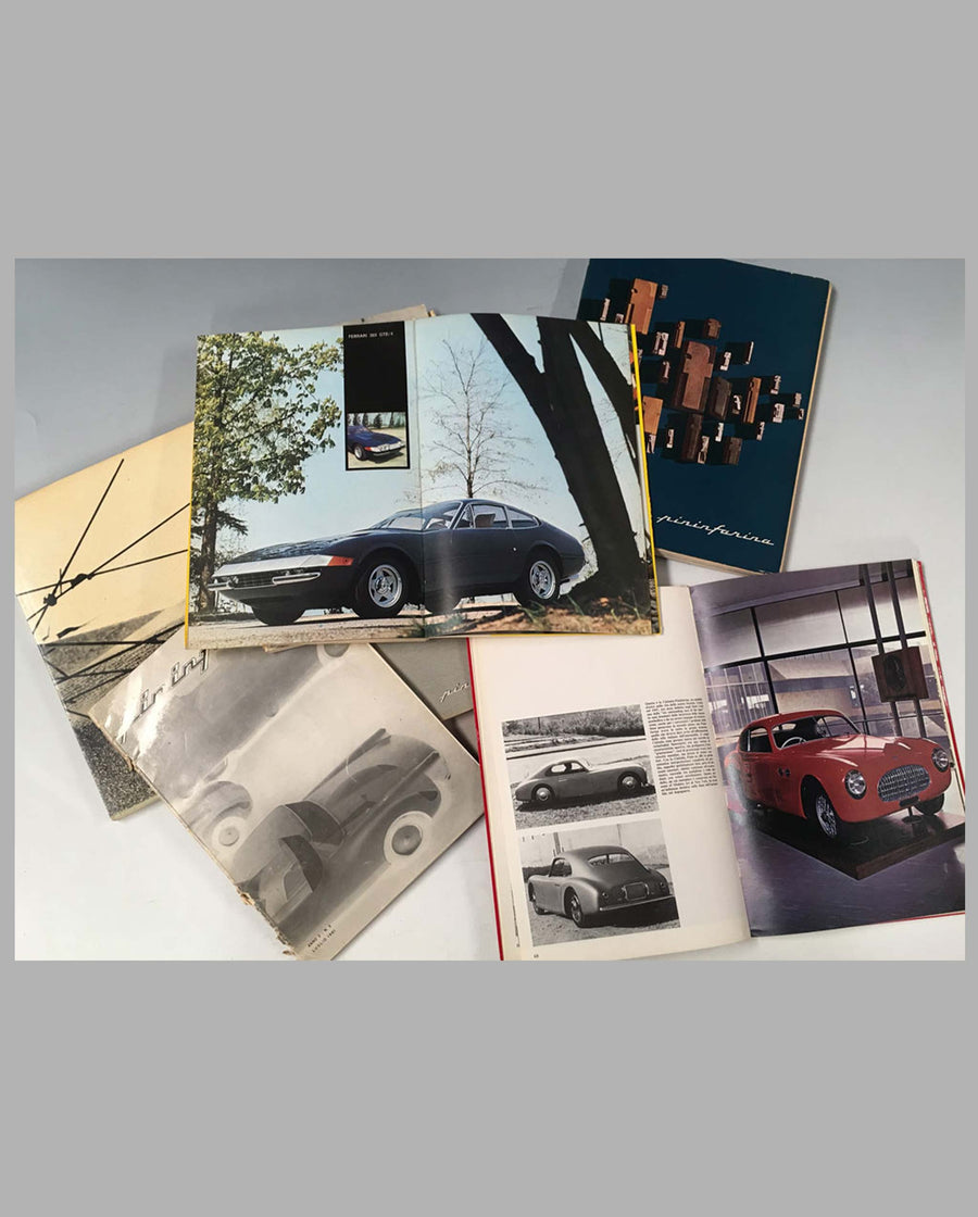 Collection of 7 Pininfarina studio yearbooks interior
