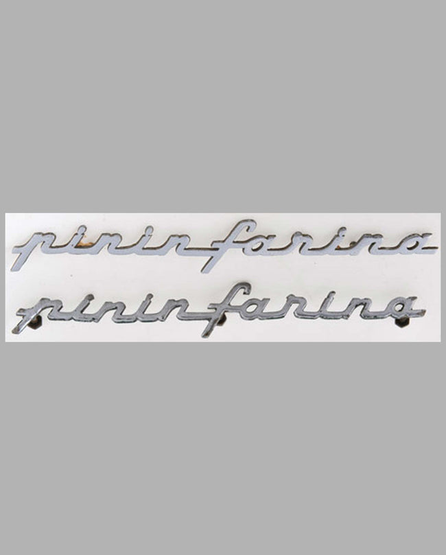 Pinin Farina script emblems, lot of 2