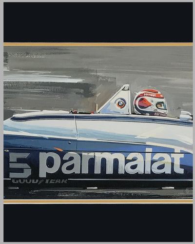 Nelson Piquet's Brabham BT49T painting by Thierry Thompson 2
