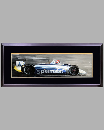 Nelson Piquet's Brabham BT49T painting by Thierry Thompson