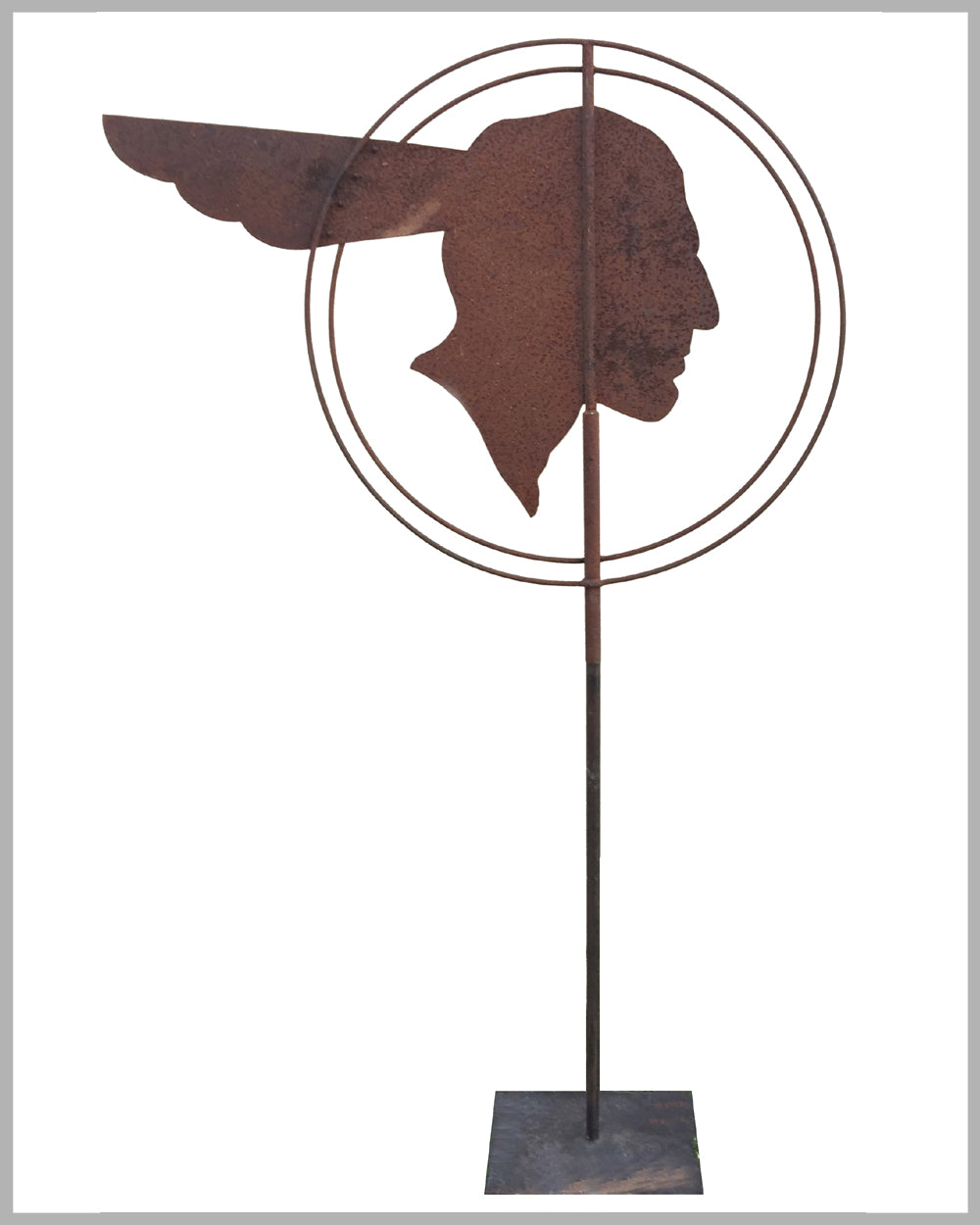 1930's Pontiac dealers' metal weather vane