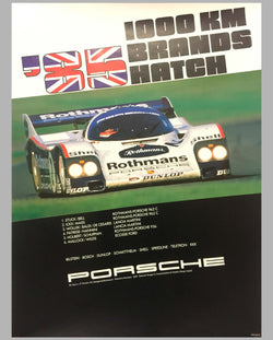 1985 1000 KM of Brands Hatch Porsche Victory Poster