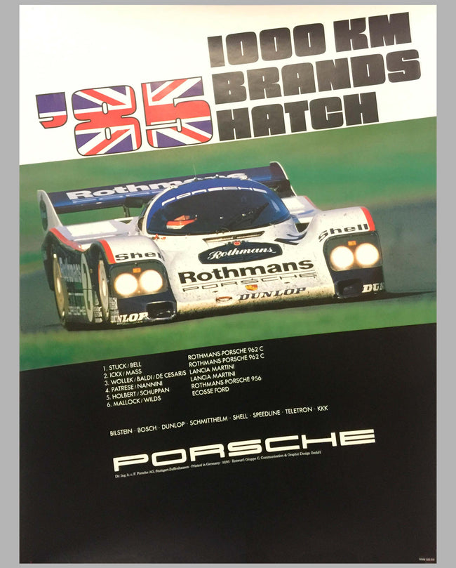 1985 1000 KM of Brands Hatch Victory Poster