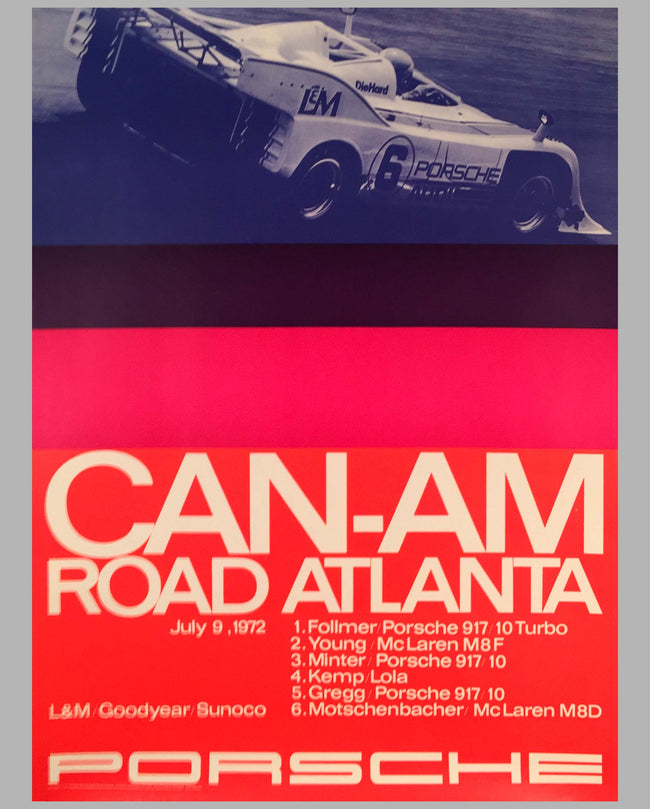 1972 Road Atlanta Can Am Victory Poster